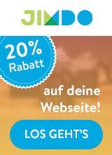 20% Rabatt auf deine eigene Homepage mit Jimdo Website Baukasten