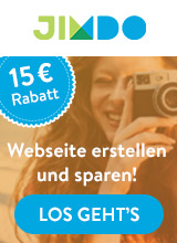 15,- € Rabatt auf deine eigene Homepage mit Jimdo Website Baukasten