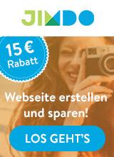 15,- € Rabatt auf deine eigene Homepage mit Jimdo Website Baukasten