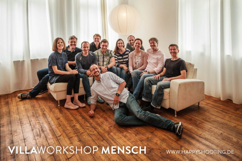Gruppenbild Villaworkshop MENSCH 2016