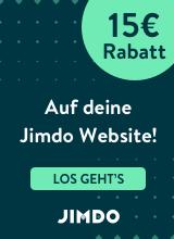 15 Euro Rabatt auf deine eigene Homepage mit Jimdo