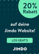 20% Rabatt auf deine eigene Homepage mit Jimdo